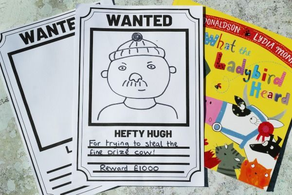 What The Ladybird Heard Wanted Poster | Museum education, Letter ...