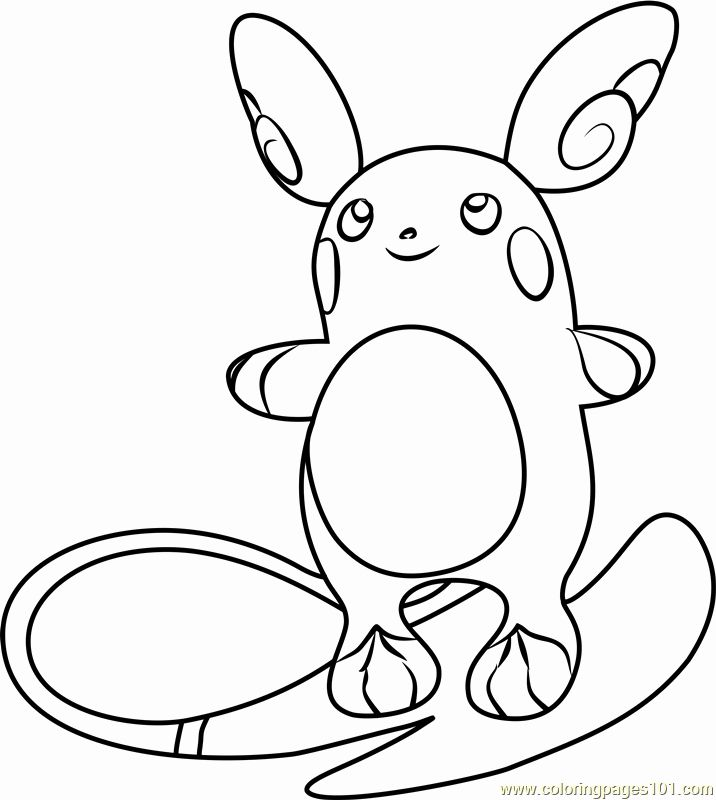 Alolan Raichu Coloring Page Lovely Best Pokemon Free To Color For Children Pokemon Kids Pokemon Coloring Pokemon Coloring Pages Dragon Coloring Page