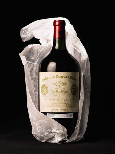 Double magnum of Chateau Cheval Blanc 1947 Bordeaux