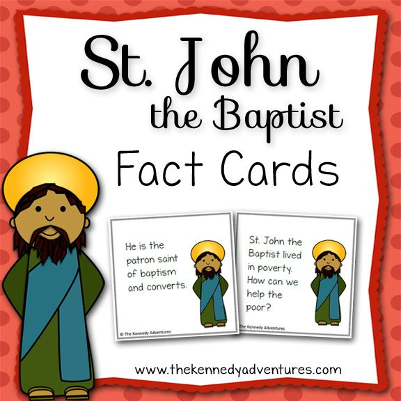 The 25 best john the baptist ideas on pinterest baptist st john the baptist fun fact cards for catholic kids sciox Images
