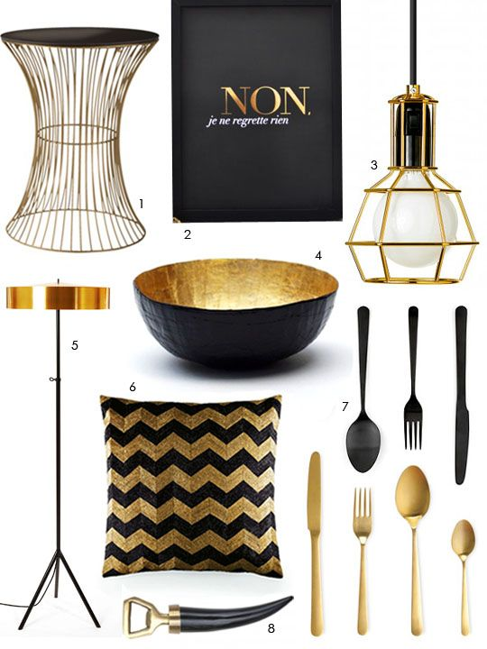 Get the Look: Black and Gold