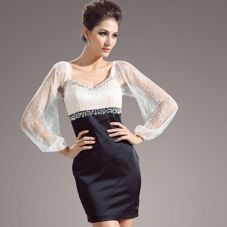 lace-short-evening-dress