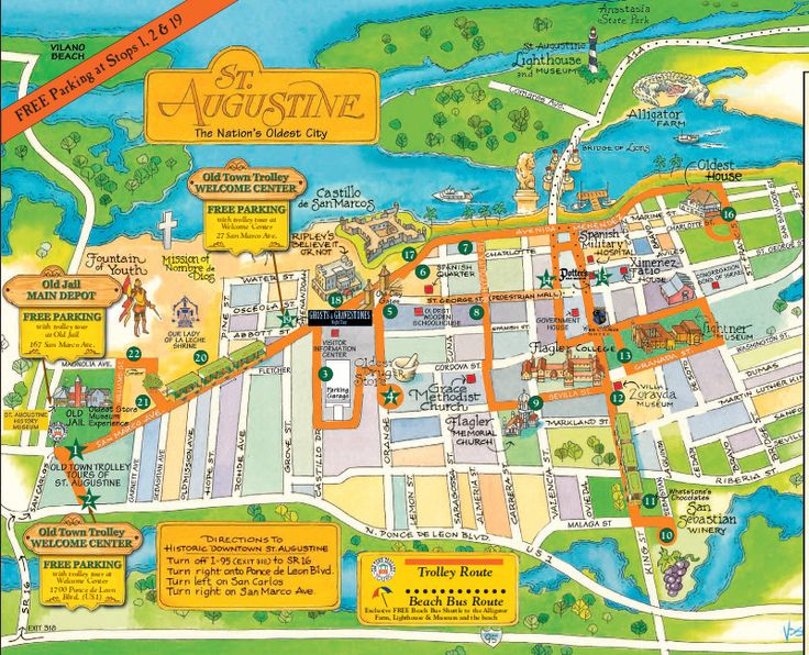 If you're going to visit St. Augustine, be sure to checkout the Old Town Trolley St Augustine Tour. With easy on and off access you would you go without?