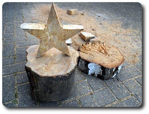 Holzstern Weihnachtsdeko Selber Machen