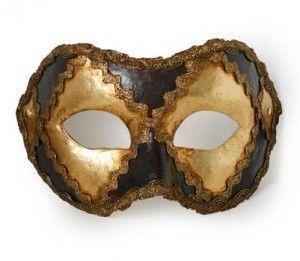 F60 Colombina oro e nero Gold and black mask