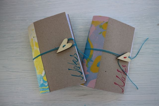 Little notebooks with lines,marbled paper,handmade,long stich. Μικρά σημειωματάρια με γραμμές,χειροποίητα