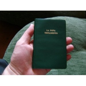 Esperanto New Testament / La Nova Testamento De Nia Sinjoro Kaj Savanto Jesuo Kristo / Green Vinyl Halfsoft Cover Pocket NT   $34.99