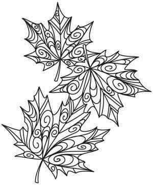 Mandala hojas de otoño