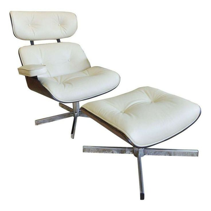 Eames Style Lounge Chair with Ottoman by Plycraft