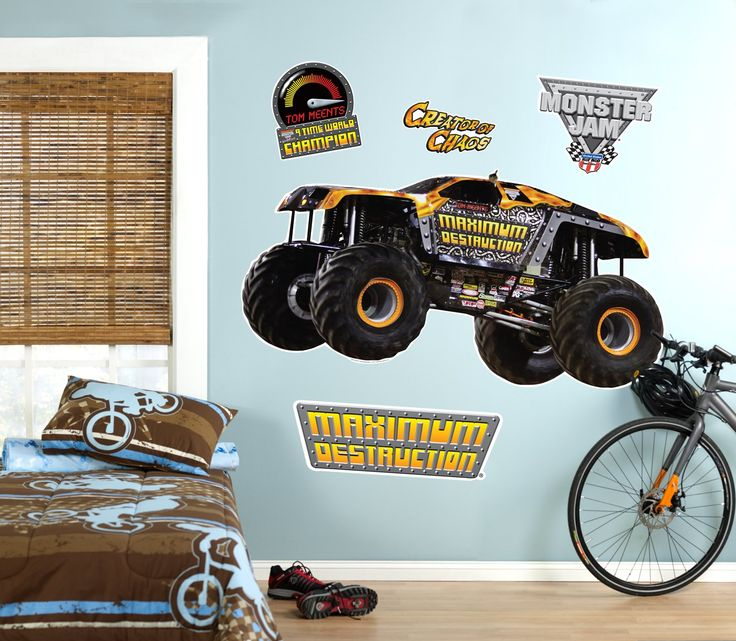 monster truck room accessories beach tropical décor decals stickers