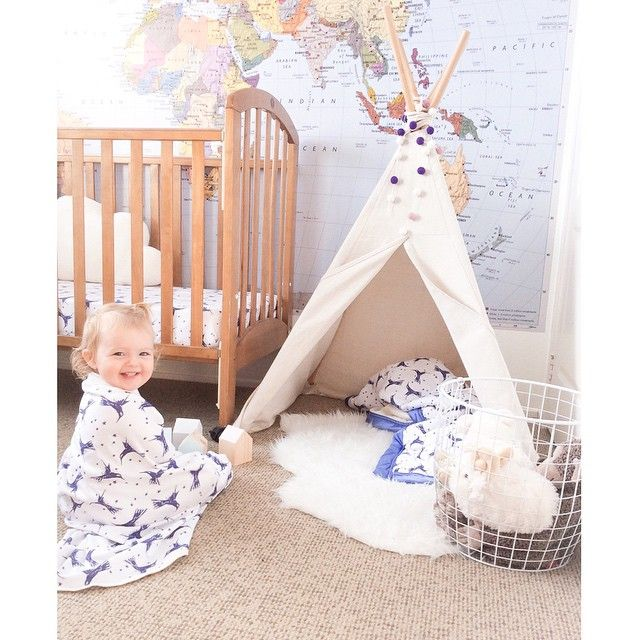 An afternoon play in the teepee still dressed as a super-hero in our #hummingbird wrap! #moonjelly #madeinaustralia #organiccotton @downtothewoods @peachybaby_ @little.linzi @dwellanddrobe