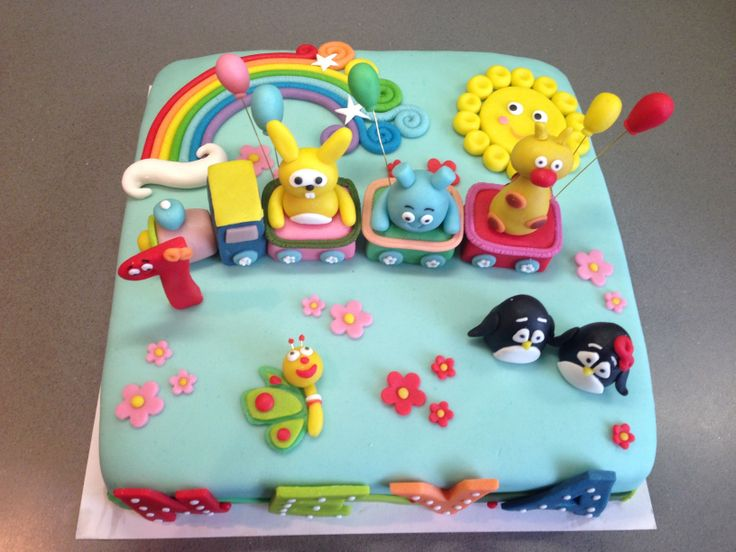 Baby tv birthday cake torte per tutti torte per tutti for Baby tv birthday decoration