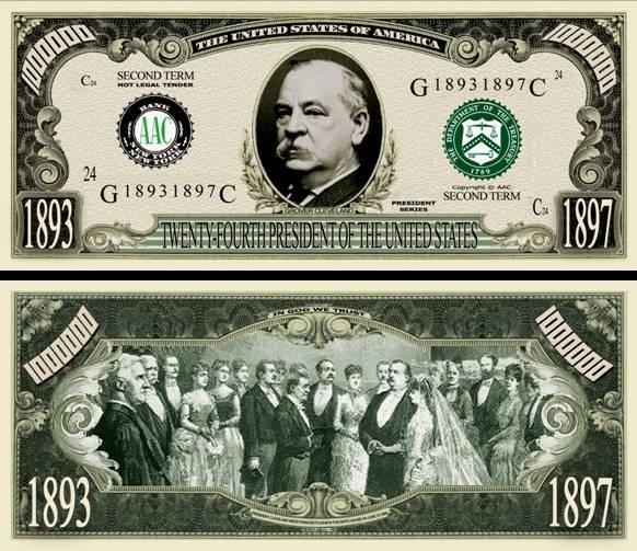 24TH PRESIDENT GROVER CLEVELAND DOLLAR BILL (500 Bills ...