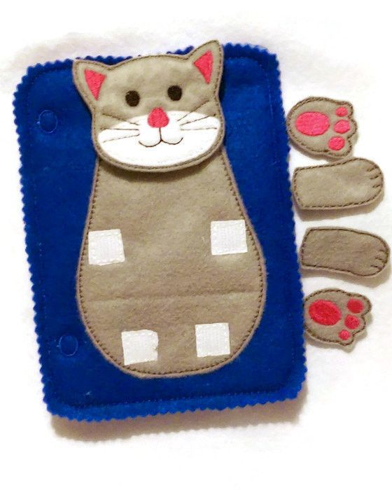 Build a cat add on quiet book page. children can learn head, feet, and arms. Buy more than one page and mix the pieces up. These pages are wonderful to keep children busy during church, car rides, Dr.