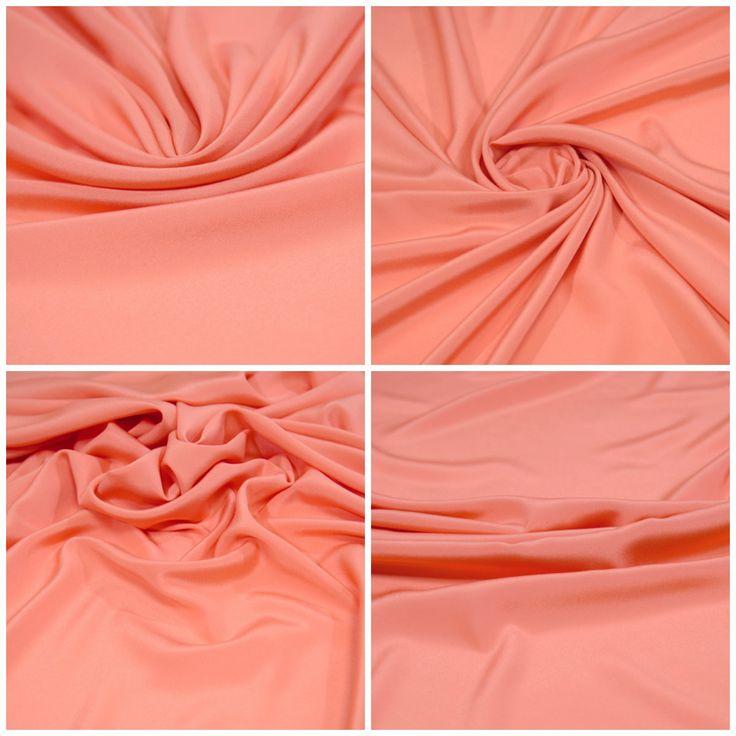 """Блузочная ткань, креп арт. 12-300-0143 Ширина: 148 см, плотность: 90 г/м2 Цвет: Светло-коралловый Состав ткани: 100% полиэстер Назначение: Платья и юбки на подкладе, блузки Тонкий блузочный креп красивого, благородного цвета. Не """"сухая"""", не колется, очень приятная тактильно. В процессе носки мало мнется и хорошо выпрямляется. #блузочная#креп#коралловый#плательная#блузочная#tutti-tessuti"""