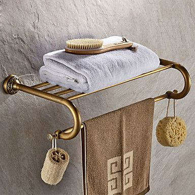 Antique Brass-Plated finishing Brass Material Bathroom Shelf 5499306 2017 – $62.99