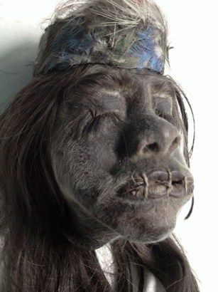 A traditional shrunken head most likely dating back to the turn of the 19th…