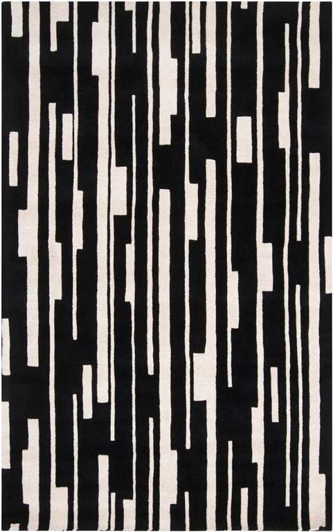 modernrugs.com Modern Classics Black White Rug