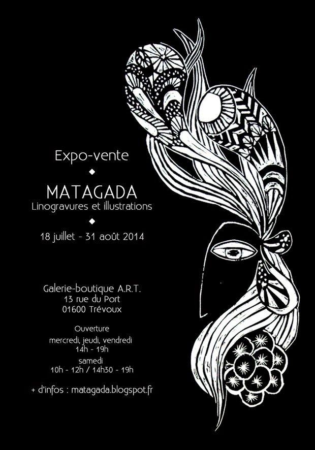 Flyer expo MATAGADA - Illustrations & créations textiles