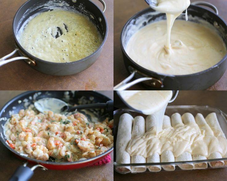 Creamy Shrimp Enchiladas | The Girl Who Ate Everything