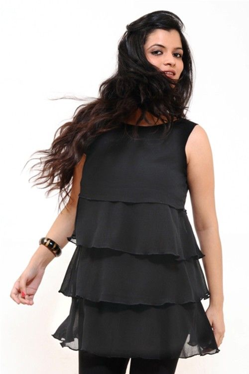 A Lovely Black Tunic Top