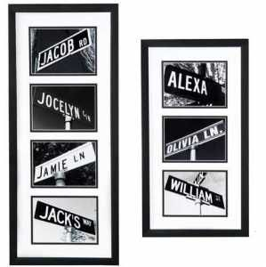 Picture Your Street locates & photographs authentic US street signs featuring your first name. Great baby gift or bday gift.