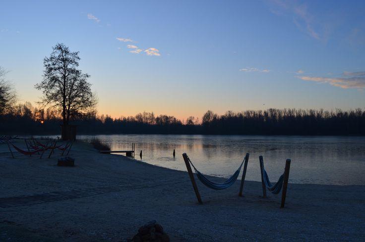 Morning beach at Veluwse Bron