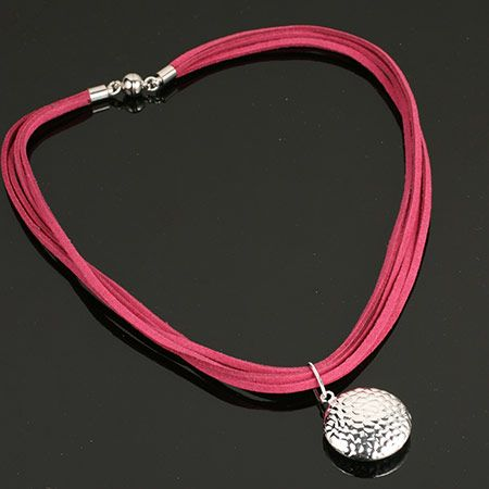 Pink and silver necklace. www.shazbamdecor.com.