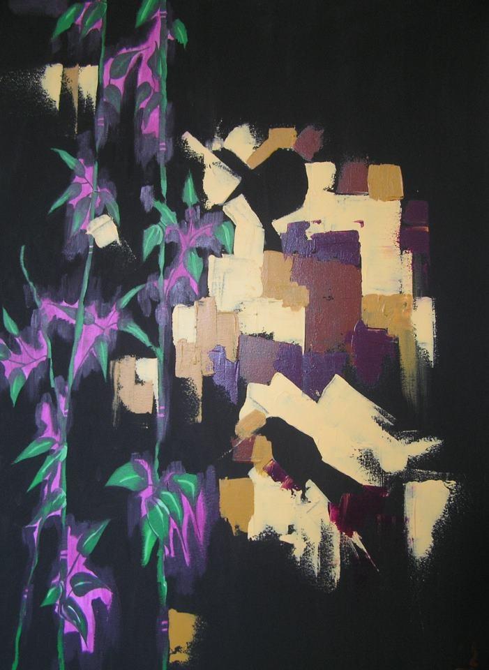 acrylic on canvas...70*100...www.2designandother.com