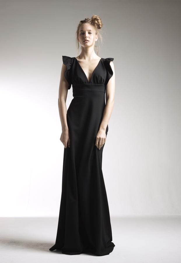 Delphine Manivet - Long black dress for La Redoute