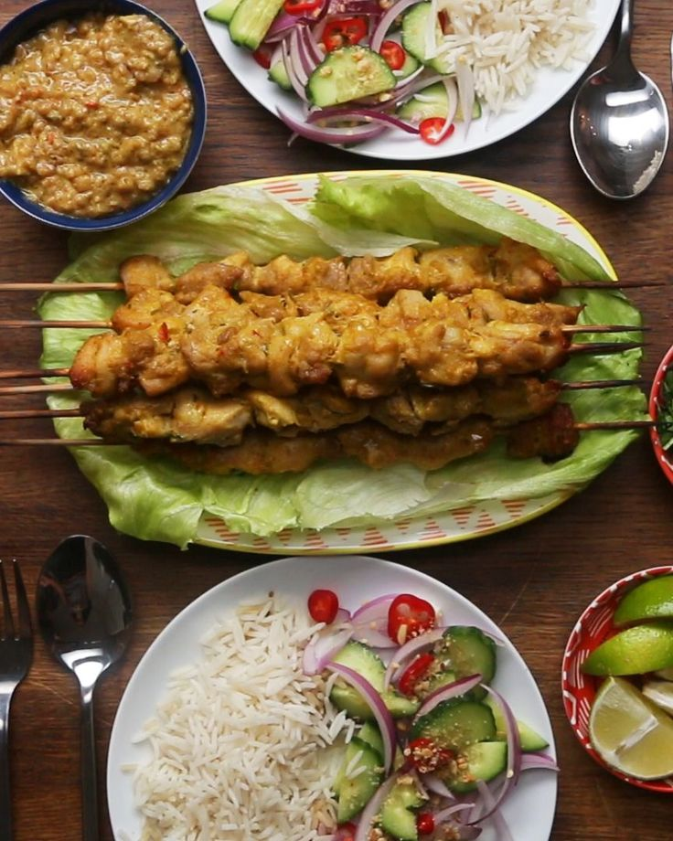 Chicken Satay Skewers Recipe by Tasty