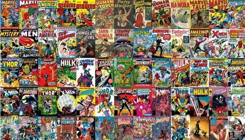 Marvel Comic Book Covers Wallpaper | Kids Bedroom | Pinterest