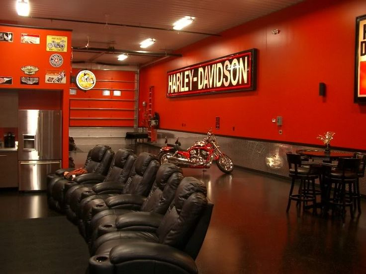 Man Cave Storage Locations : Man cave garage plans harley coming soon