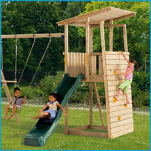 Blue Rabbit Bunker #wooden climbing frames for kids see more at www.woodenclimbingframe.co.uk