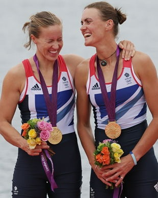 Helen Glover (left) and Heather Stanning got Great Britain a gold; Canada's waiting for one (Associated Press)