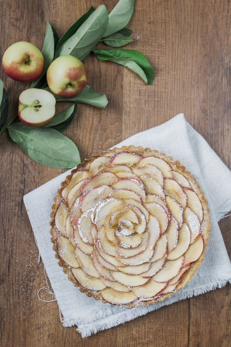 This is such a beautiful tart - it looks just like a rose. A crisp buttery pastry filled with almond paste and topped with apple petals