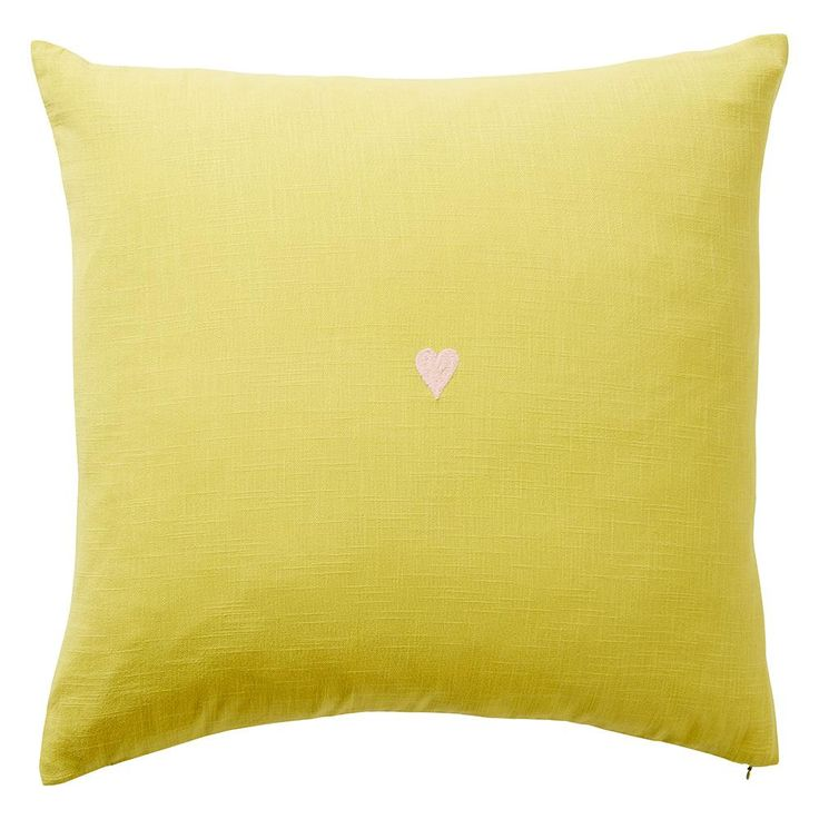 Tabitha Heart Cushion - Chartreuse