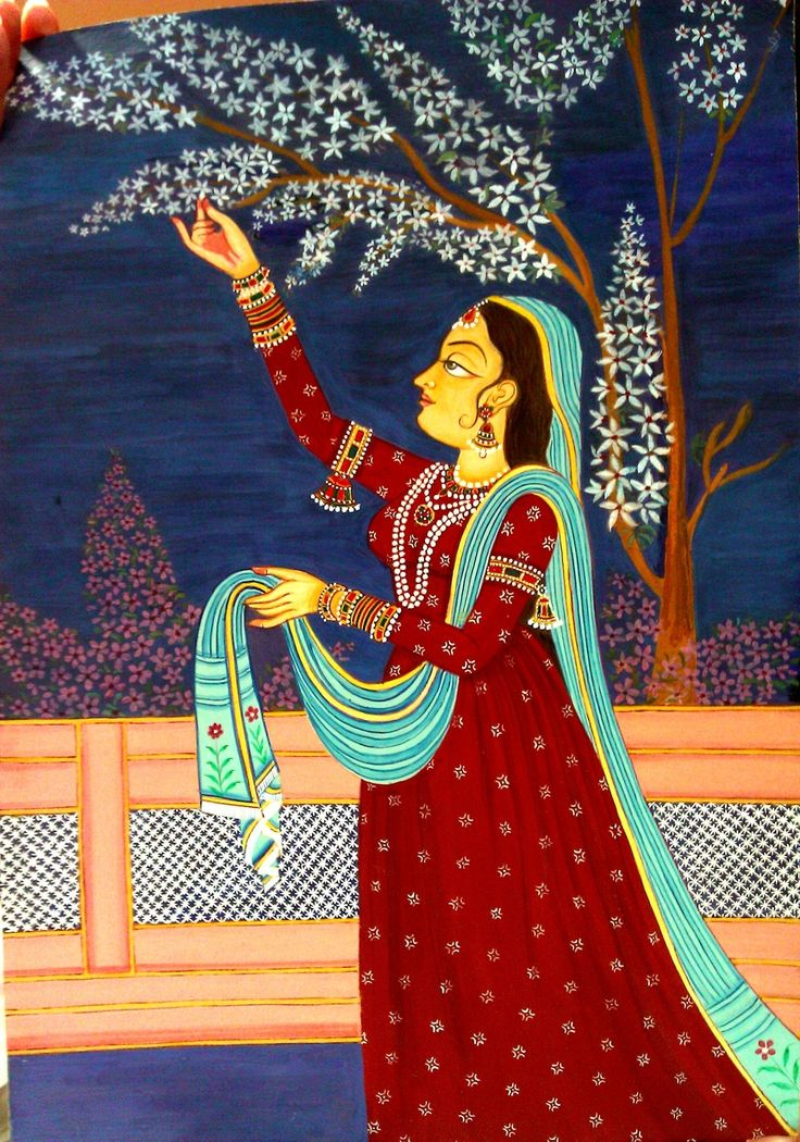 Second set of Indian Miniature Painting Classes at Bhavan's - Indian Miniature Artist - Shalini Gupta