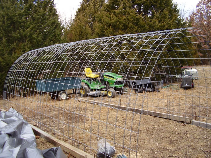 Cattle Panels For Shelter Cover With Plastic For