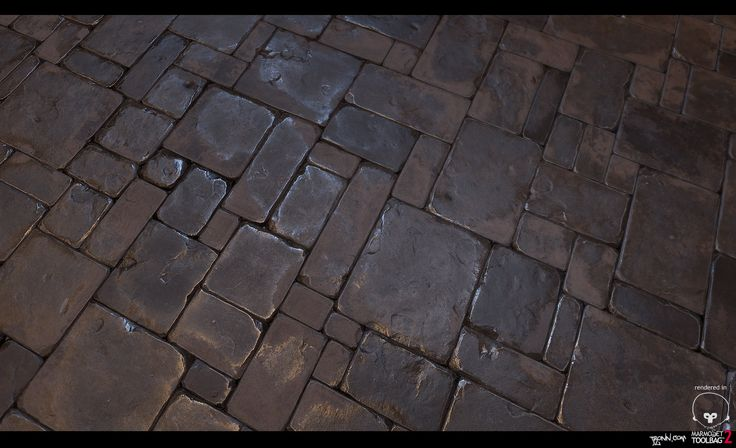 Stone_Floor_tile_01, Jonas Ronnegard on ArtStation at https://artstation.com/artwork/stone_floor_tile_01