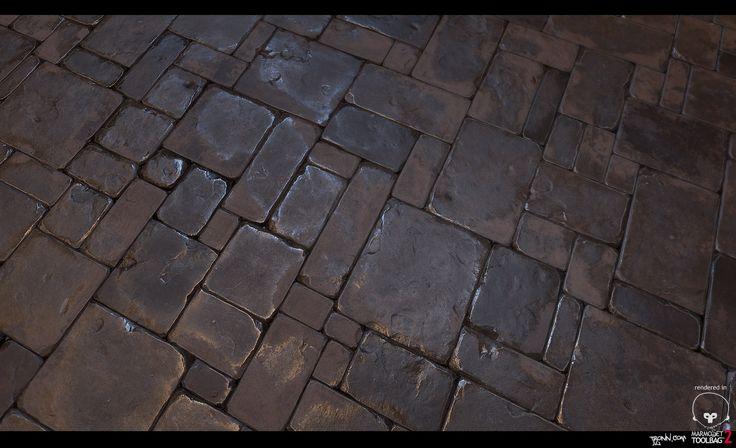 Stone_Floor_tile_01, Jonas Ronnegard on ArtStation at https://www.artstation.com/artwork/stone_floor_tile_01