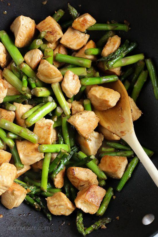 Chicken and Asparagus Teriyaki Stir-Fry