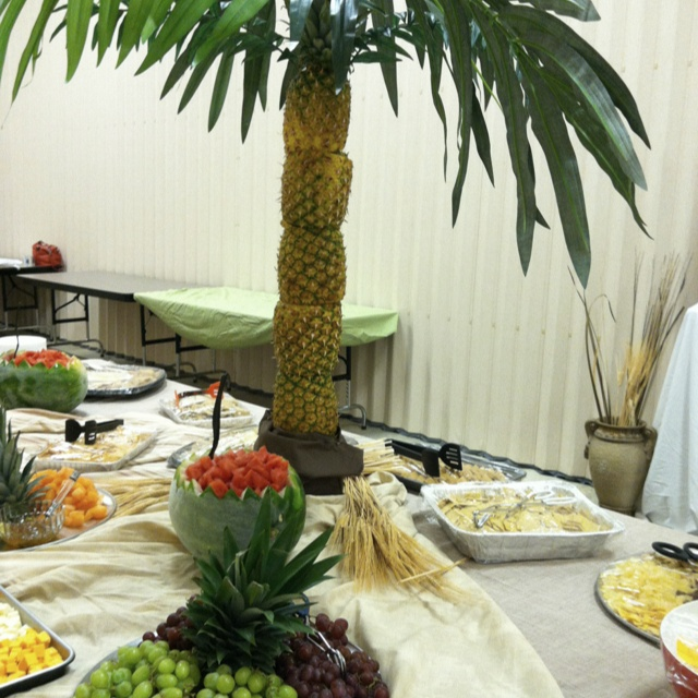 Awesome snack table at our vbs closing celebration for Decorated bible