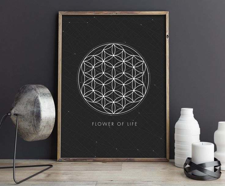 Sacred Geometry, Wall Art, Flower of Life