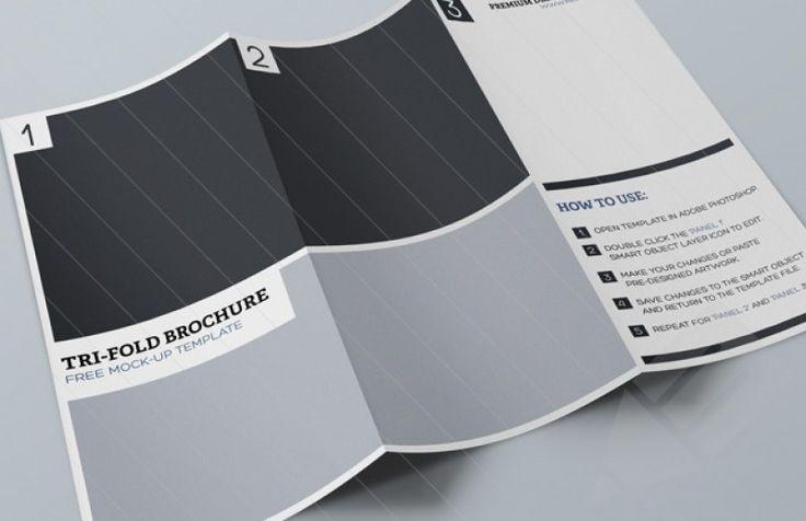 Tri Fold Brochure Mockup Template : Image 1