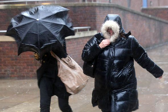 Strong winds, torrential downpours and arctic gales are forecast for the beginning of December