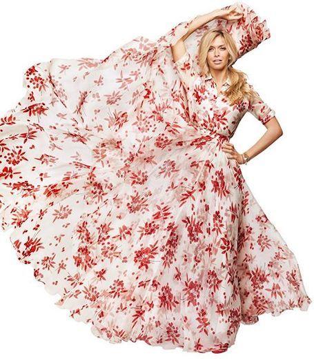 платье цветочн принт