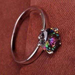Amazon:  Women's Ring with Round Cut Rainbow Topaz for $4.46 shipped!!!