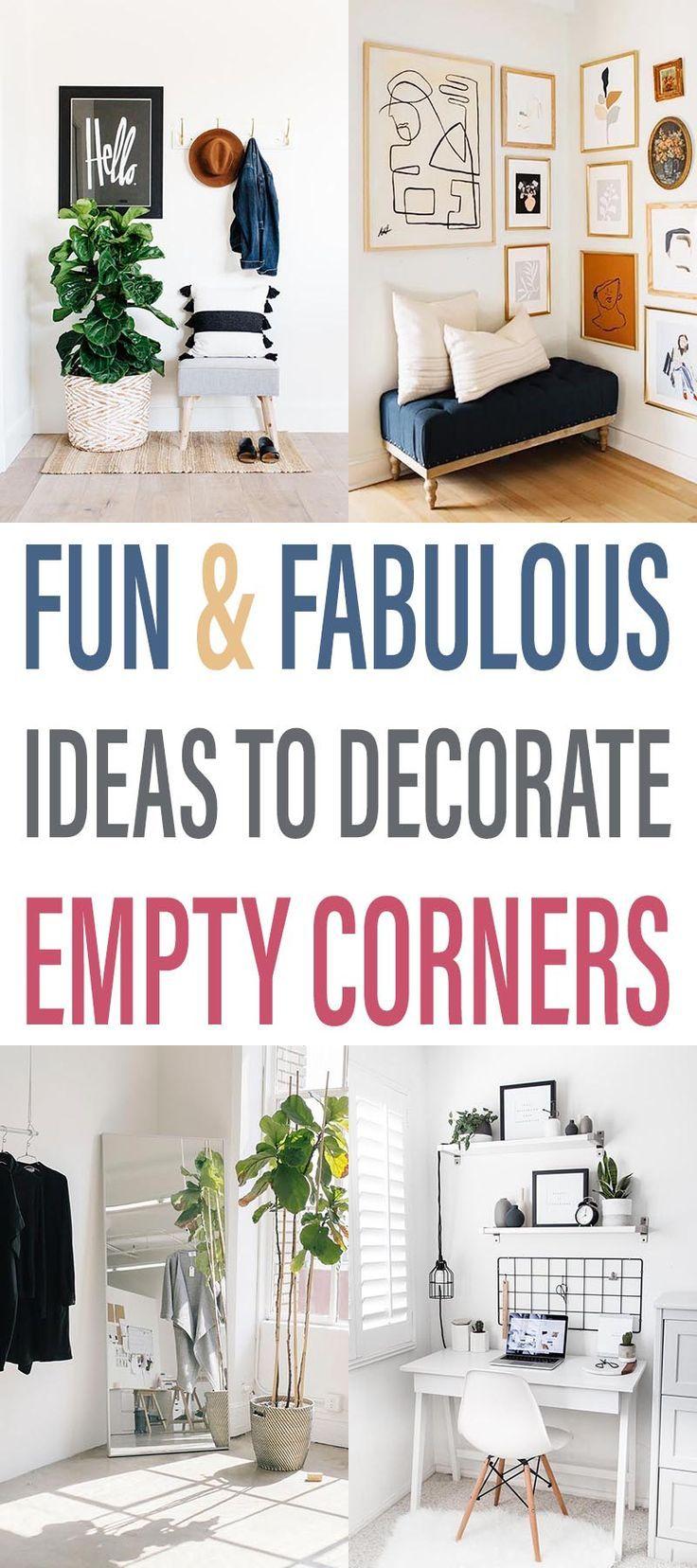 46++ Empty corner decorating ideas trends