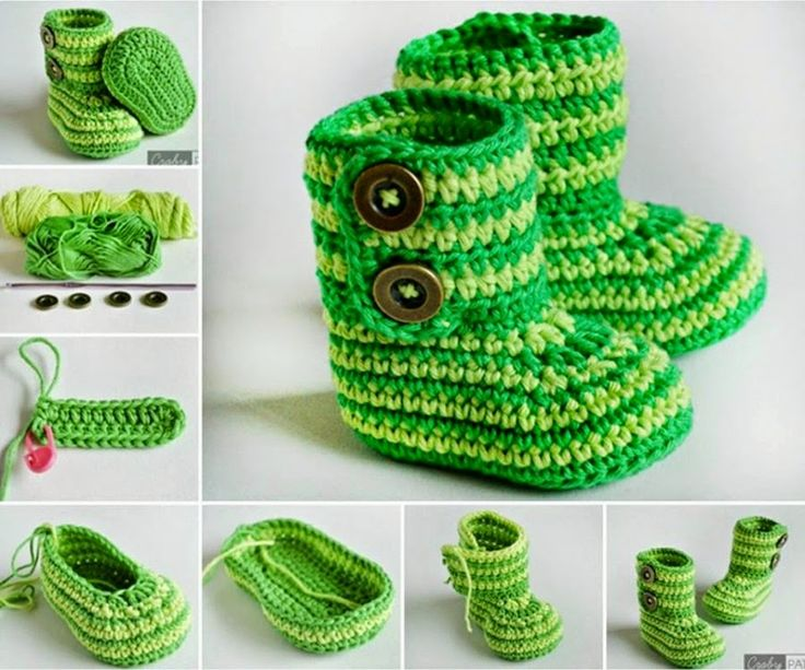 Ideas & Products: Striped Crochet Baby Booties